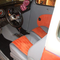 Orange and Gray Interior