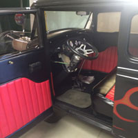 New Interior on Custom Hot Rod