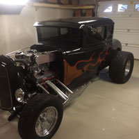 Black Hot Rod Car