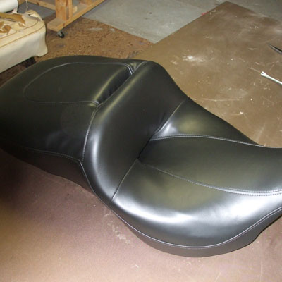 redoing a motorcycle seat