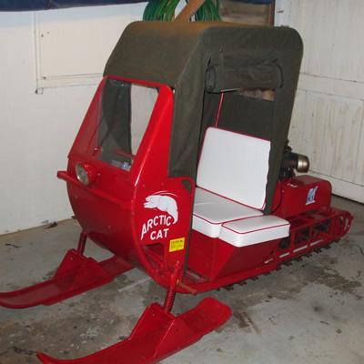 antique snowmobile
