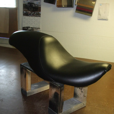 newly finished motorcycle seat