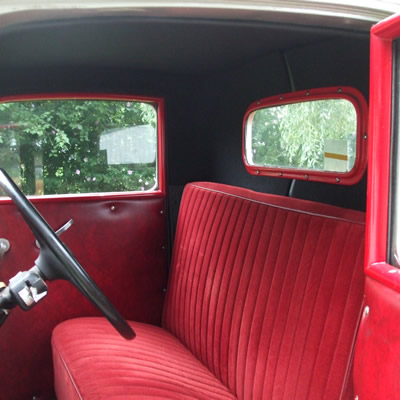 Classic car refinished interior