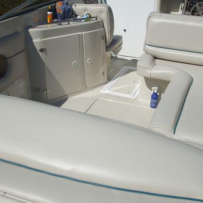 boat all off white interior