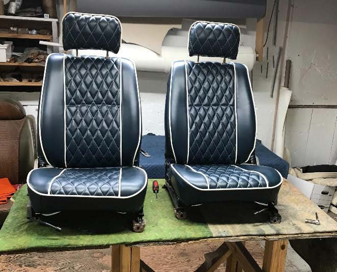 auto seats after upholstery