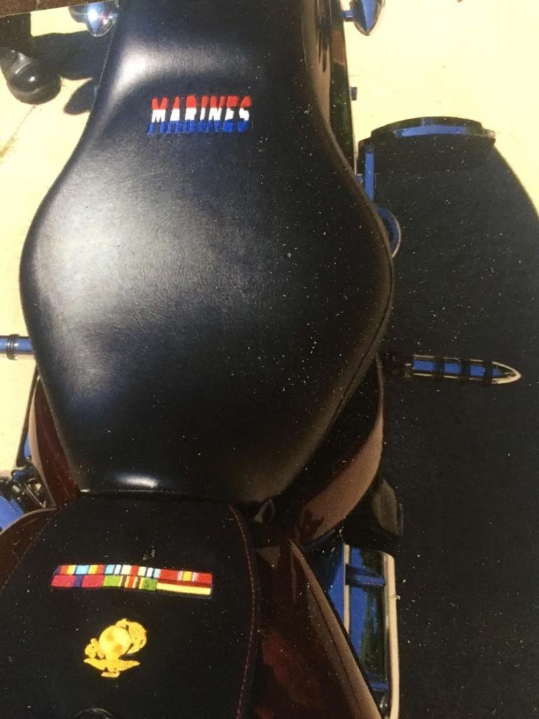 motorcycle seat embroidery