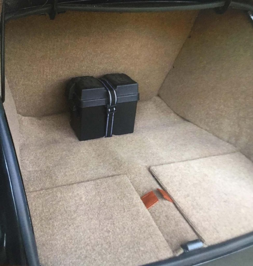 Trunk upholstery repair